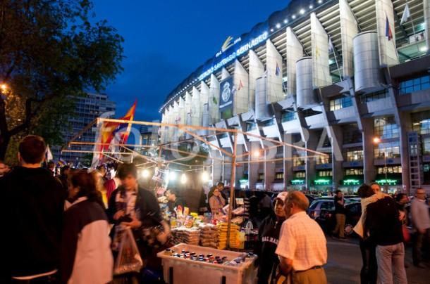 Santiago Bernabeu stadium. Madrid